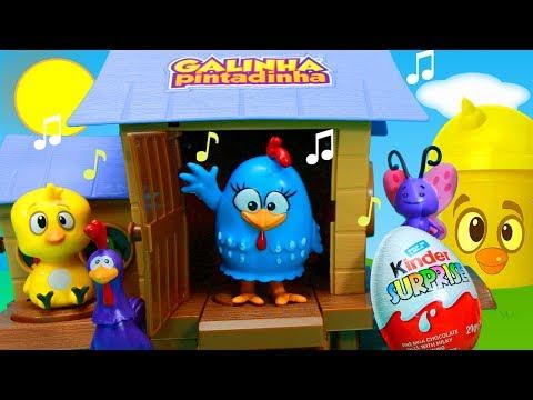 Galinha Pintadinha Galinheiro Musical Pintinho Amarelinho Procurando Brinquedos Surpresas Ovos