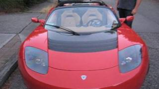 Test Driving the $110,000 All Electric Tesla Roadster Sports Car in West Seattle