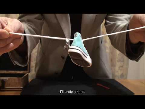 magic; Ring in Normal Shoelace with Miniature shoes trick