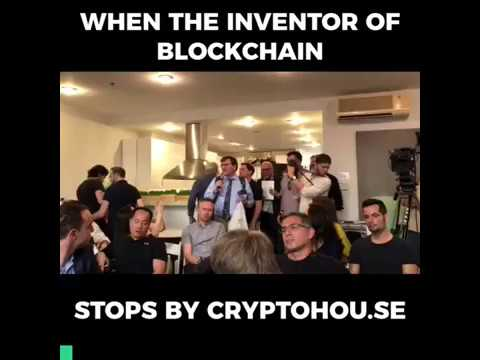 Early Blockchain Inventor Shows Up at the Cryptohou.se Unconference