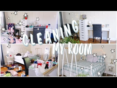 Cleaning, Reorganizing, & Redecorating My Room ✩ (satisfying)
