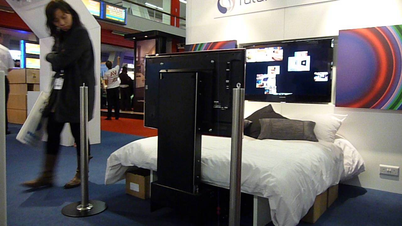 motorisation tv sous lit futureautomation underbed youtube. Black Bedroom Furniture Sets. Home Design Ideas