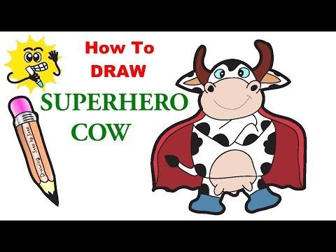 draw cartoon cow - Myhiton