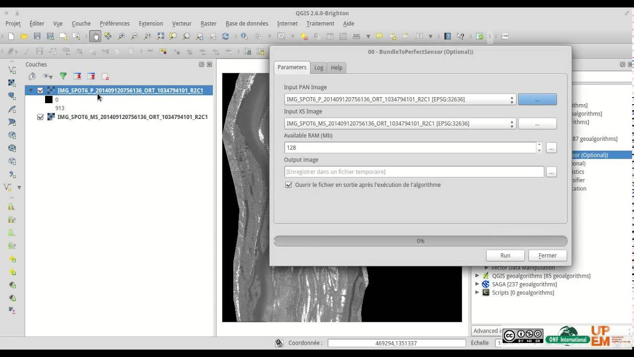Tutorial - Qgis Orfeo ToolBox how to make Easy Pansharpening by ONF  International