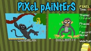 Pixel Painters on Hypixel - Gamer Chad vs. Dollastic - Minecraft Challenge