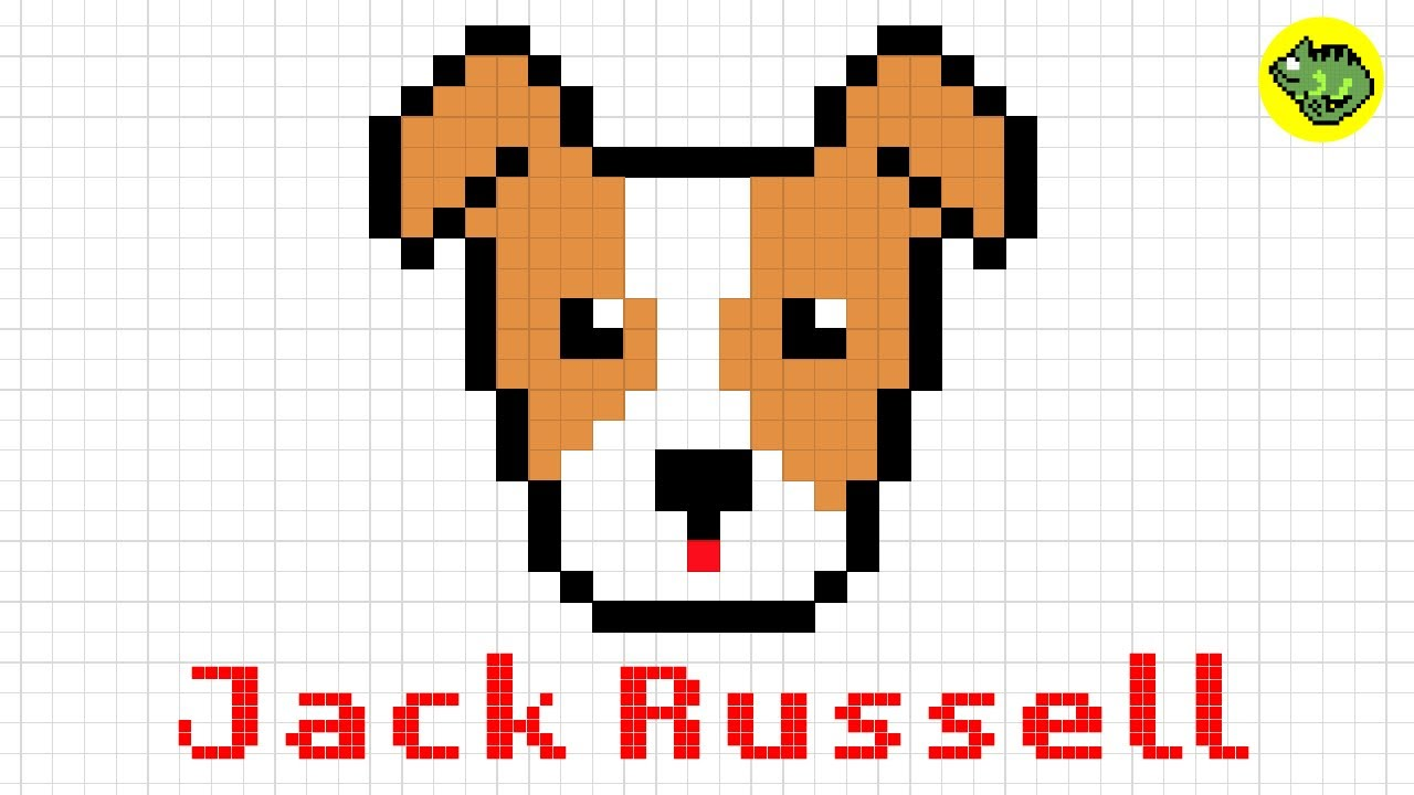 Pixel Art Jack Russell Terrier Dog Series 4 How To Draw A