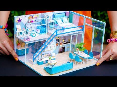5 DIY Miniature Dollhouse Rooms Frozen Elsa
