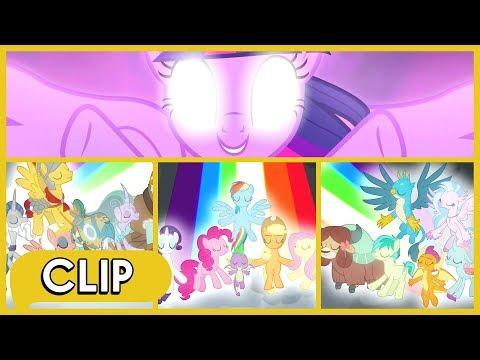 The Mane 6, Young 6 & Pillars Defeat Tirek, Chrysalis & Cozy - MLP: Friendship Is Magic [Season 9]