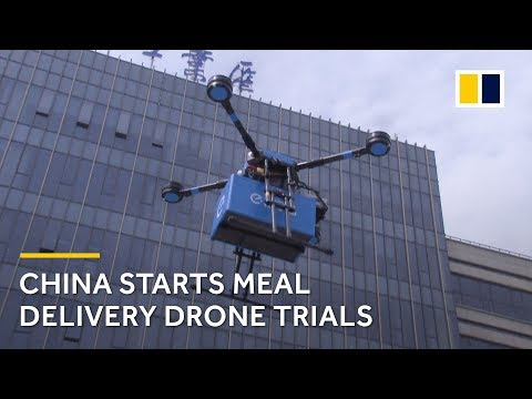 Meal Delivery Drone Trials Begin In Shanghai, China