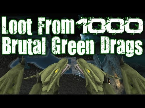 Runescape 3 - Loot From 1000 Brutal Green Dragons