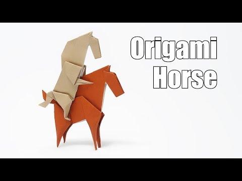 Origami Unicorn into a horse-Jo Nakashima
