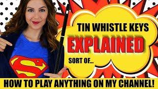 TIN WHISTLE KEYS - EXPLAINED (sort of)   Beginners Intro To Whistle Keys