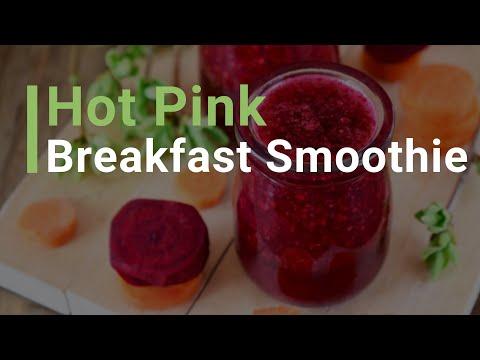 Hot Pink Breakfast Smoothie
