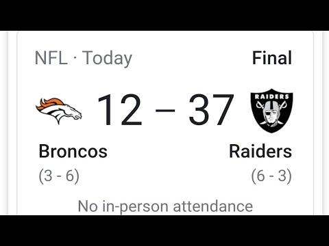 Las Vegas Raiders Defeat Broncos 12 - 37 Securing The 6th Seed In Playoffs? By Joseph Armendariz