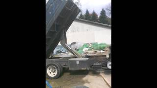 Dually dump truck burnout