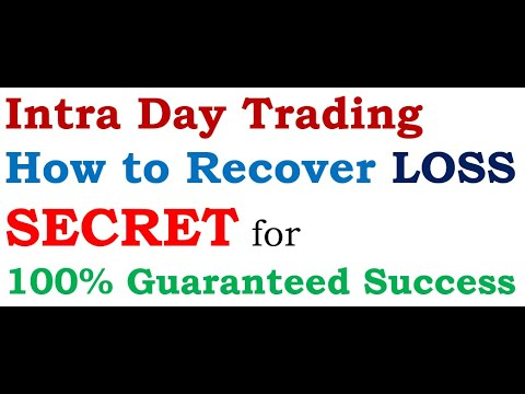 Intra Day Trading SECRET : How To Recover LOSS? 100% Guaranteed Success