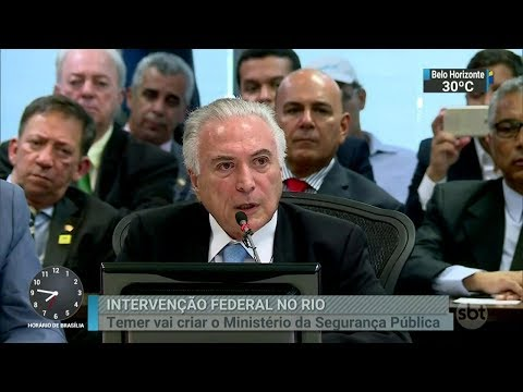Crise no RJ: Temer anuncia criação de ministério da Segurança Pública | SBT Brasil (17/02/18)