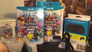 - UNBOXING - Super Smash Bros Wii U + Adaptateur + WaveBird GAMECUBE {FR} / HD