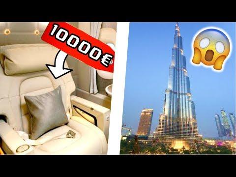 DANS UN SIEGE D'AVION A 10 000€ ! PREMIERE CLASSE EMIRATES DUBAI VLOG