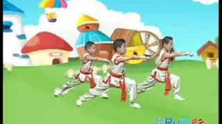 Kids wushu  exercises