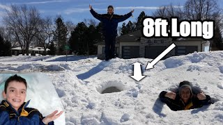 Building an AWESOME SNOW FORT!!! (Cool Snow Dome)