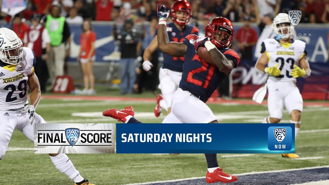 Uofa Football Score >> Pac 12 Football Arizona Bounces Back With 65 41 Rout Over