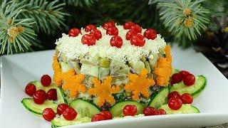 Салат с шампиньонами и сердцем