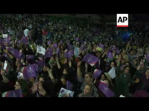 Rouhani addresses supporters in Tehran
