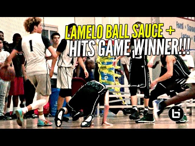 lamelo-ball-extra-saucy-today-hits-game-winner-w-lonzo-liangelo-watching