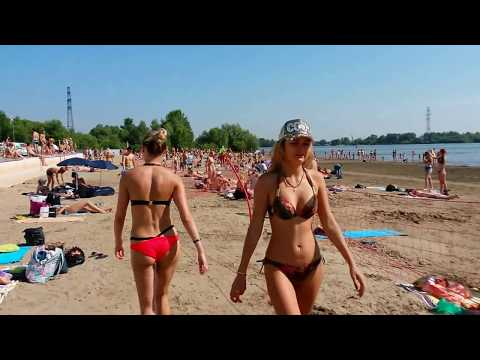 Zaelzovsky beach, Novosibirsk hot weekend (+33°C)