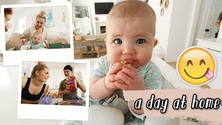 a day at home in quarantine!! grocery haul, new baby toys, waxing eyebrows!
