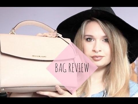 586f26b1564aed Bag Review ♡ Michael Kors Ava Small Saffiano Leather Satchel ...