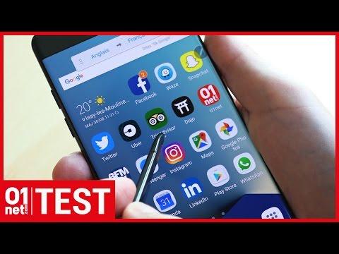 Test Samsung Galaxy Note 7 : puissant mais pas assez endurant
