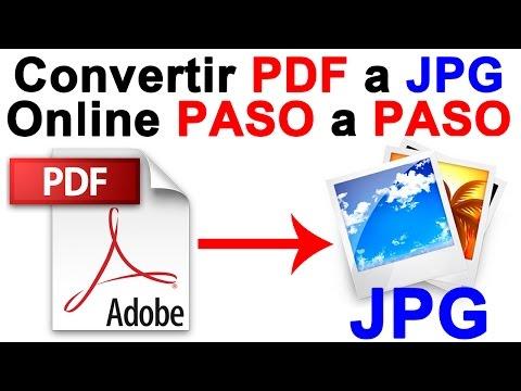 Como Convertir PDF A Imagen JPG (Online) PASO A PASO - Tutorial CHVERE