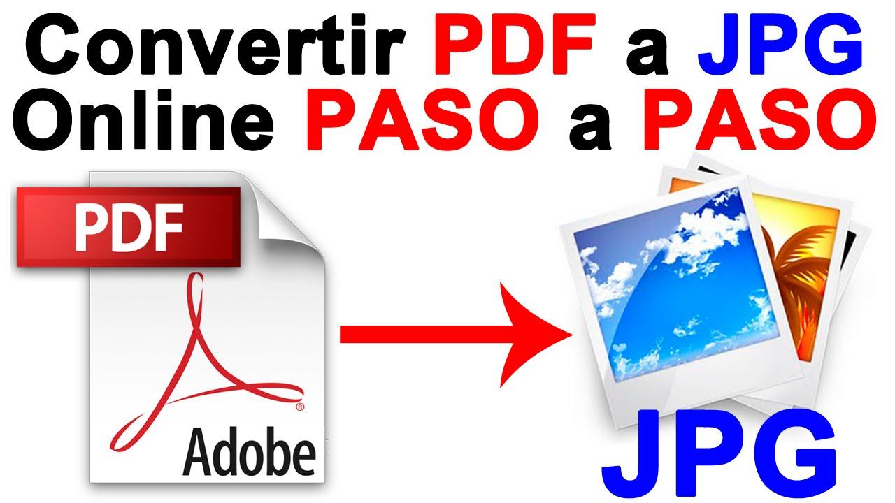 Como Convertir PDF a imagen JPG (Online) PASO a PASO
