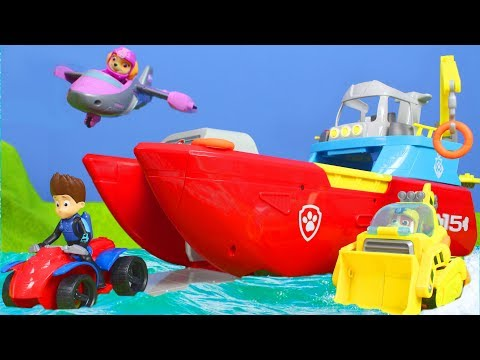 Paw Patrol Unboxing:  Sea Patroller, Feuerwehrmann Marshall, Ryder, Chase, Rubble für Kinder