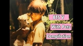 BTS V WITH PETS COMPILATION