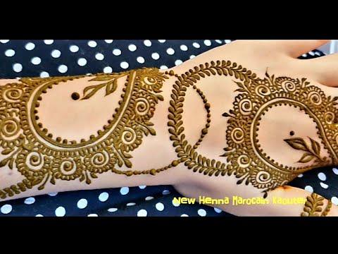 زواقة رومية جميلة جدا في اليدين 🖐 غاية في الاتقان 😍 Drawing with henna in beautiful hands - New Henna Marocain kaouter