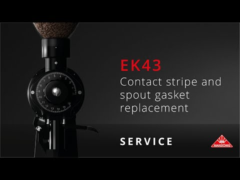 Mahlkönig EK43   Contact stripe and spout gasket replacement