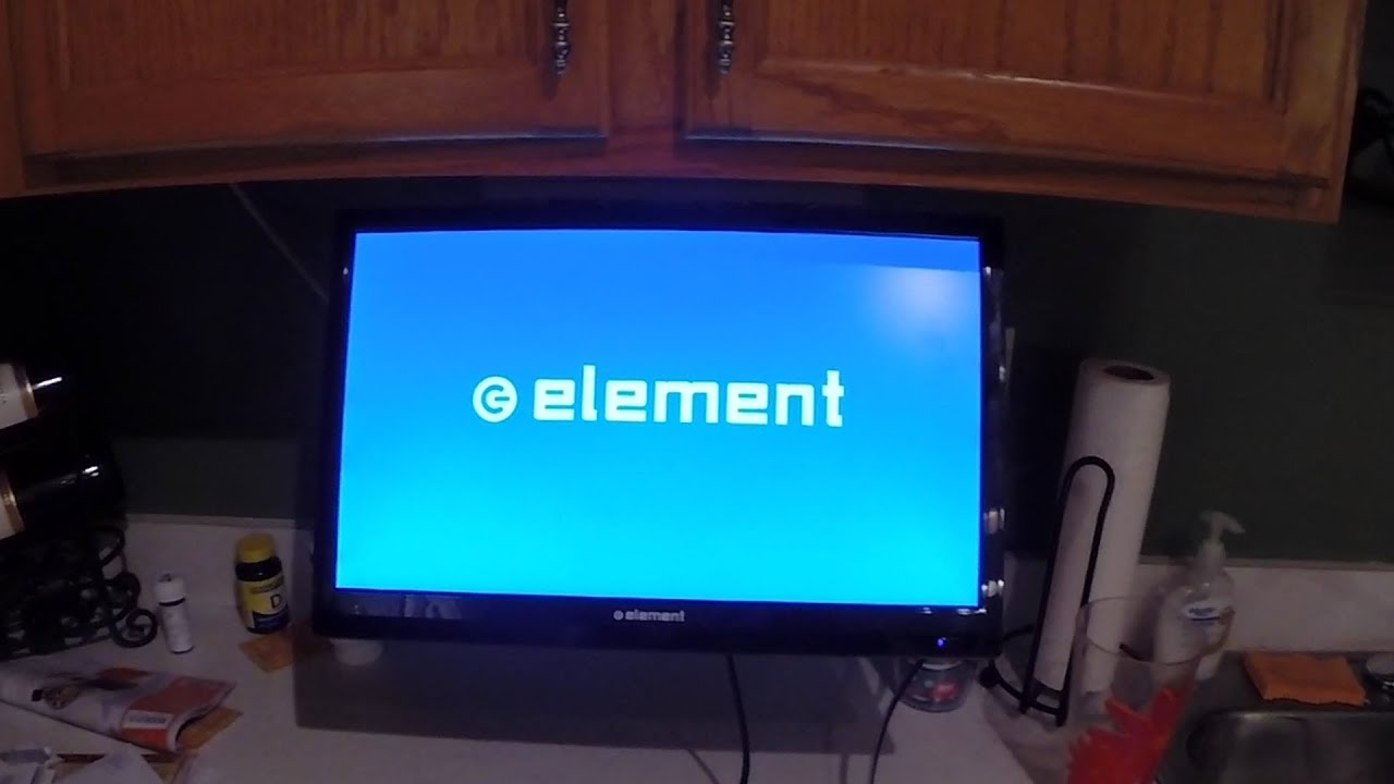 Homemade under cabinet TV mount - YouTube