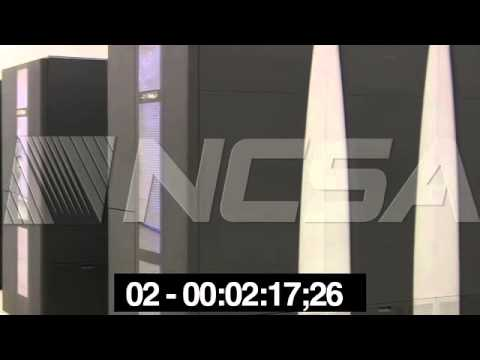 NCSA b-roll video: Blue Waters Spectra Logic tape storage