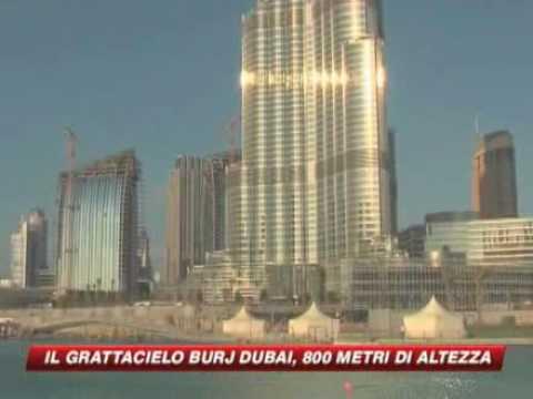 Sky tg 24 dubai inaugura il grattacielo piu alto del - Dubai grattacielo piu alto ...