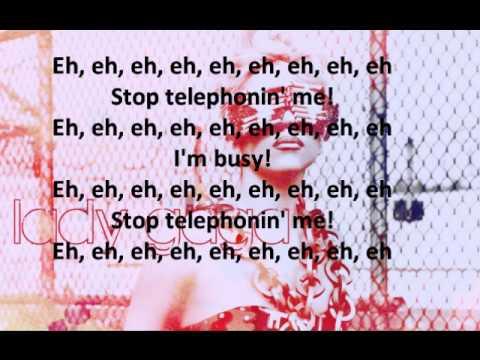 lady gaga - telephone instrumental with lyrics