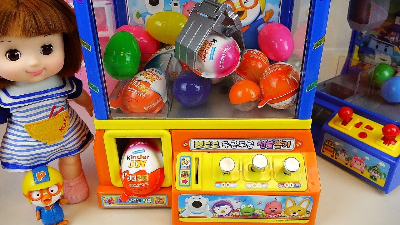 Jos And Toys : Crane surprise eggs kinder joy toys and baby doll poror
