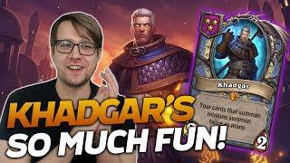 Khadgar is SO MUCH FUN! Doubling our Summons! | Hearthstone Battlegrounds | Savjz