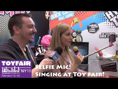 Selfie Mic New Karaoke Mic with Selfie Stick Demonstration at Toy Fair 2016!