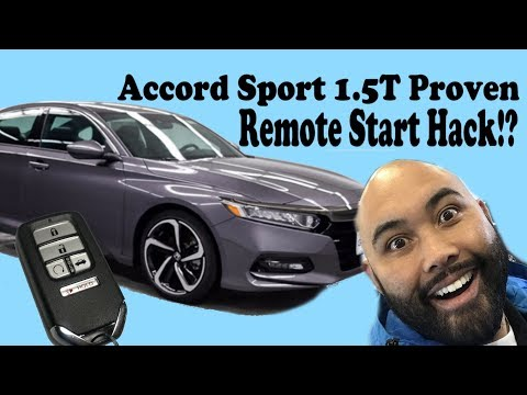 Honda Accord Sport 1.5T Proven Remote Start Hack.  remote start on your sport *READ PINNED COMMENT