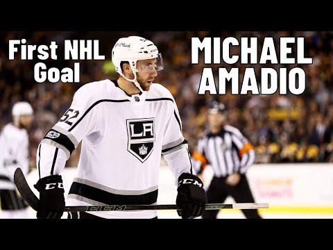 Michael Amadio #52 (Los Angeles Kings) first NHL goal 02.11.2017