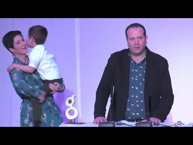 XI Gala Solidaria Premios Grada 2019 - Premio Ocio, patrocinado por: Diputación de Badajoz