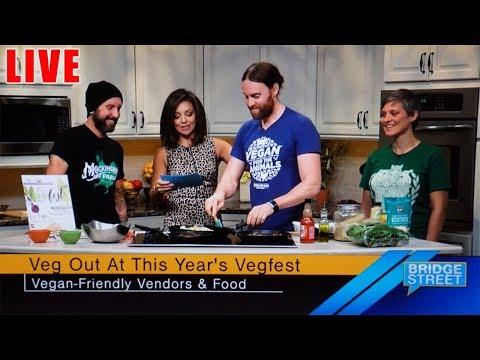 Fall Tofu Scramble LIVE On Bridge Street TV - Vegfest